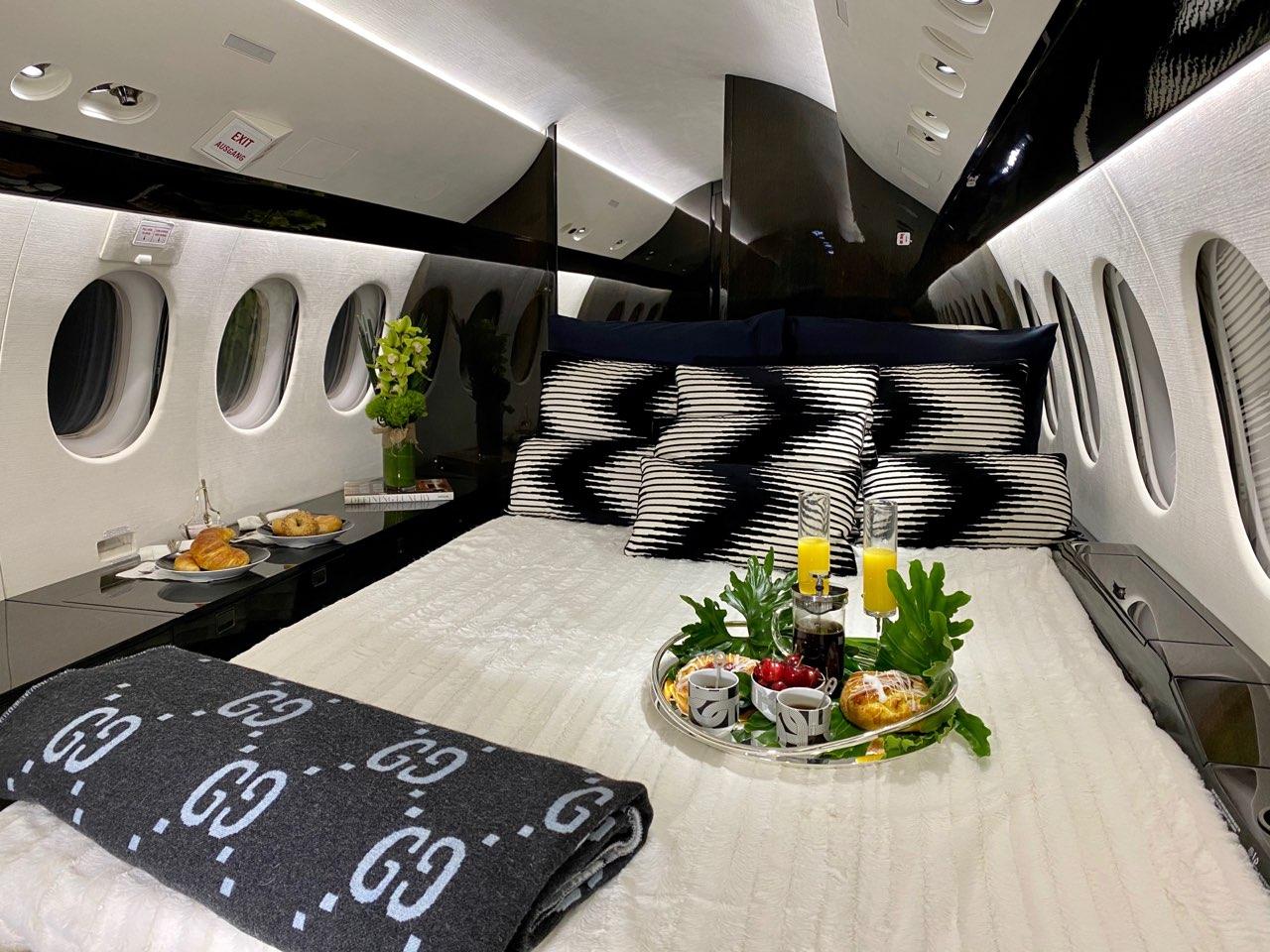 Falcon 7X Private Jet Interior